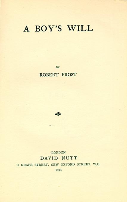 robert frost bibliography